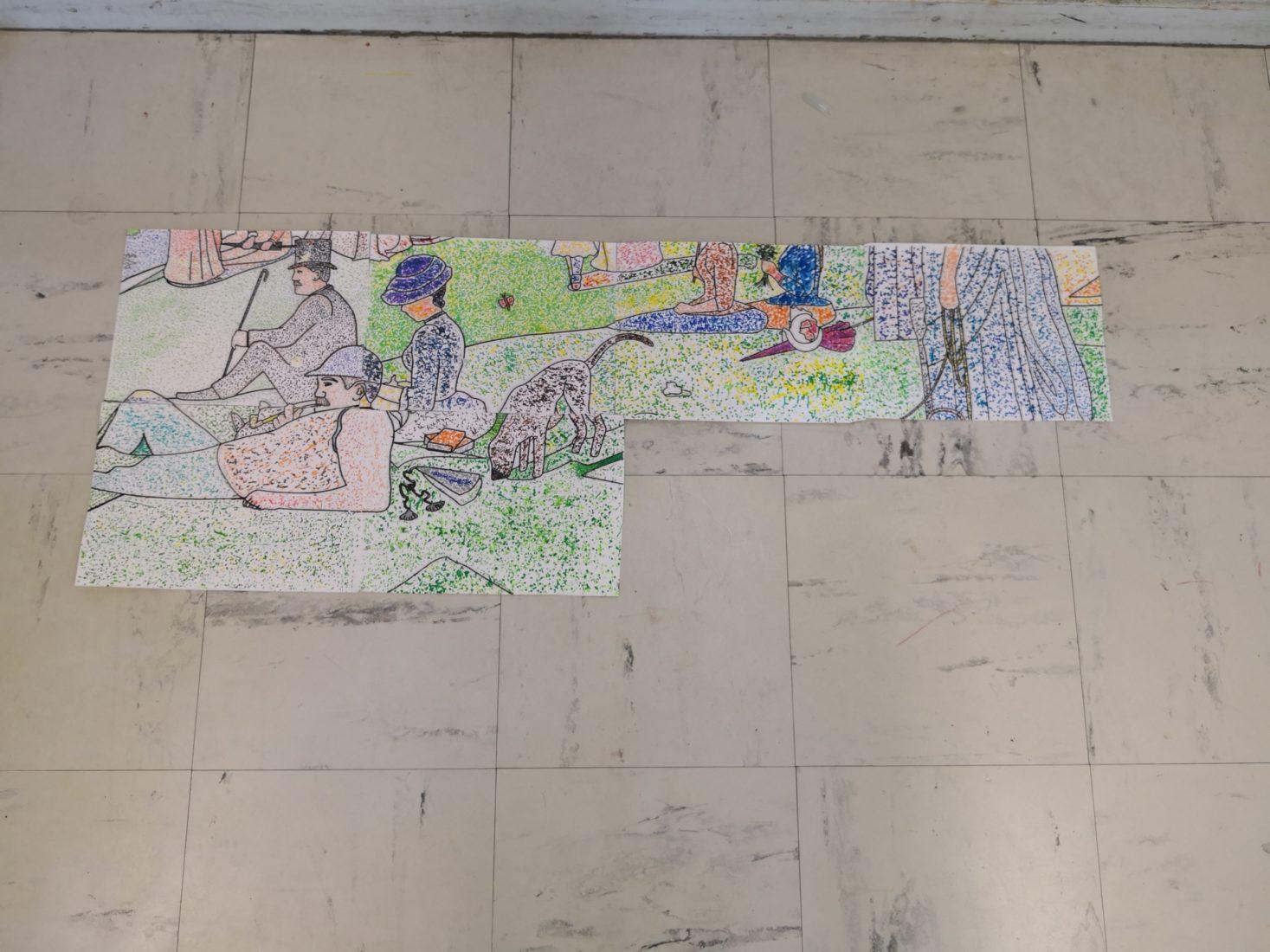 CE1: Oeuvre collective à la manière de Georges Seurat