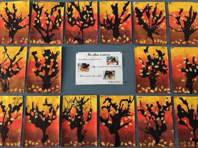 Les arbres d'automne des Grands